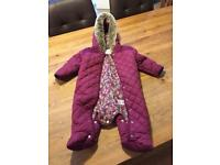Marks and Spencer's baby snow suit 6-9 months