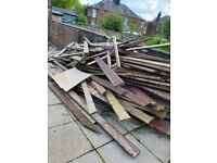 Old decking boards, free to uplift. Good condition.