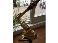 Alto Saxophone - Trevor James and co. 'Classic' (incld. case, strap, stand, reeds)