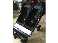 Mountain buggy double with raincover