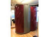 Aurora vertical sunbed with attached changing room excellent condition blue Infiniti tubes