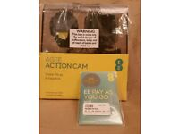 REDUCED EE 4G Action Cam 4GB Camcorder + View Finder Watch+ Free Sim Card with £10 credit-BRAND NEW