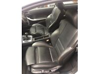 BMW 3-Series black leather interior e46 coupe 2002
