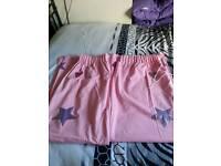 Girls pink curtains