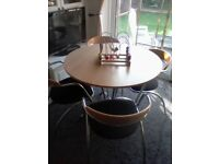 Bistro Style Modern Dining Table And 4 Chairs Italian Effezeta