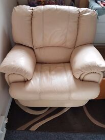 Lovely cream relclining chair
