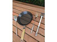 BBQ Tools & Perforated Pan