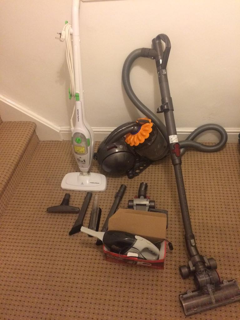 Vacuum cleaner with steam mop & car hoover.