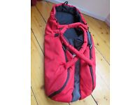 Phil & Teds E3 Cocoon Baby Carrycot in Chilli red for sale.