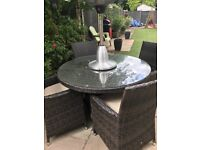Real quality rattan patio table and chairs