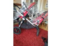 Baby Jogger City Select Double in red
