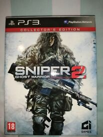 Mint Condition Collectors Edition Sniper: Ghost Warrior 2 for PS3