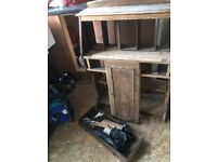 partly restored small drop leaf secretary desk - probably 1950s?