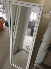 Freestanding bedroom mirror in white