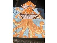 Two NEXT Children's/Childrens/Kids Poncho Hooded Beach Towels