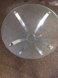 Glass topped table ***£5***
