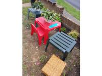 Garden table kids table n chair