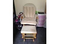 FREE nursing / rocking chair plus rocking foot stool.