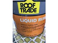 Tin of liquid right rubber & brushes