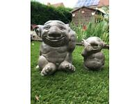Trolls garden ornaments big and small