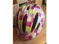 Girls bike helmet as new