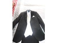 Boys Black Wedding Suit, age 6-7 years.