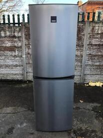 Used conditions full working order Zanussi stainless steel fridge freezer only £70