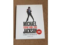Michael Jackson a tribute to the king of pop hardback book by James Aldis with free poster.