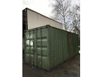 20ft shipping container green