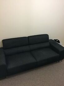 Dark grey modern sofa