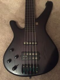Sandberg Classic Custom 5, Lined fretless bass guitar