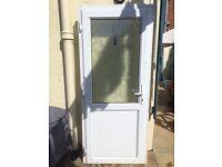 White glazed front door