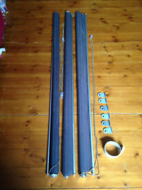 Three IKEA Enje window shades
