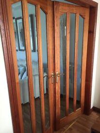 Glass Doors rebated