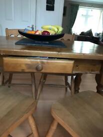 Farmhouse Table & 6 Chairs