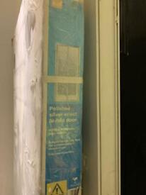 Bi Fold shower screen door for 760mm shower tray