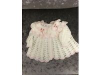 Baby Girls Hand Knitted Cardigan