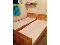 Two IKEA extendable single beds with mattresses in excellent condition £125.00 each