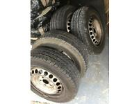 Vw t5 transporter steel wheels and tyres 195 65 16 c