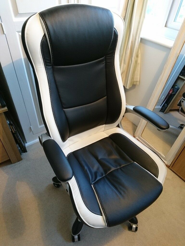 Magnificent Gaming Office Chair Black White Dexter Rrp 110 In Margate Kent Gumtree Inzonedesignstudio Interior Chair Design Inzonedesignstudiocom