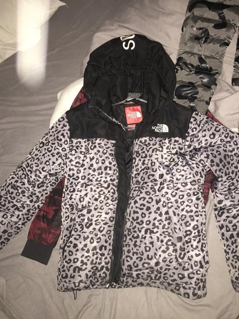 042ed0d270 Northface X supreme leopard print coat