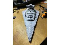 Lego Star Wars star destroyer and poes x wing fighter