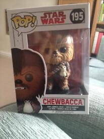 Funko POP! Star Wars Chewbacca Vinyl BobbleHead figure (#195) NEW