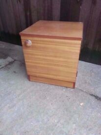 Bedside table wood brown shelf delivery available £8