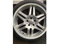 Mercedes brabus alloy wheels 18'' 9.5j 8.5j ET35