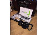 Wii fit board and rock band 3