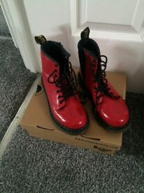 Girls red Dr Martin boots size 13