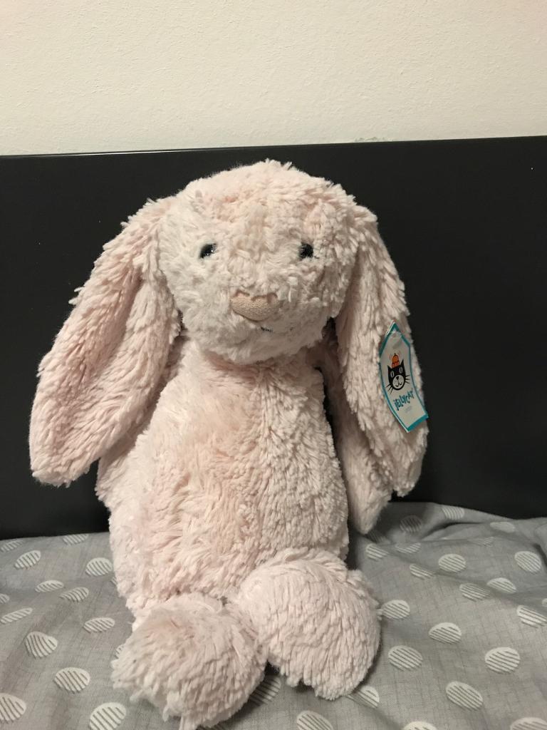 Jelly cat rabbit pink medium size