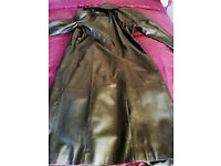Woodland Leather Trench Coat (large)