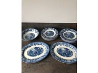 'Old English' Staffordshire Plates